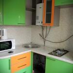кухня хрущевка колонка фото - 6 м - фото варианты 23012016 3