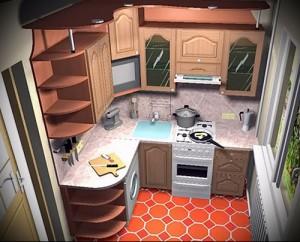 фото малогабаритной кухни хрущевка - 6 м - фото варианты 23012016 2