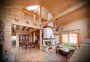 интерьер деревянного дома в стиле прованс фото - пример от 27020216 2
