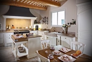 Interior of a wooden house in the style of Provence Photo 1
