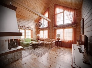 Interior of a wooden house in the style of Provence Photo 2