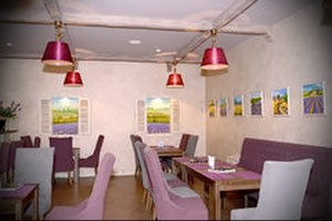 interior of the cafe in the style of Provence Photo 1