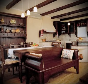 small kitchen in style Provence interior photo 2