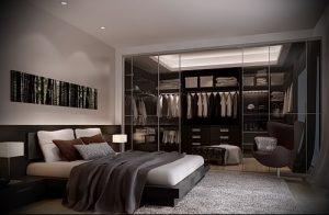 дизайн спальни с гардеробной комнатой фото - интересный пример от 07052016 1