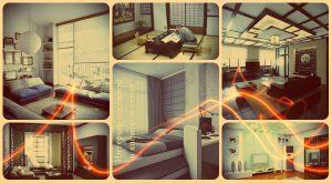 Интерьер гостиной в японском стиле - фото примеры идей