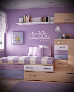 Интерьер детской комнаты для девочки - фото пример 014