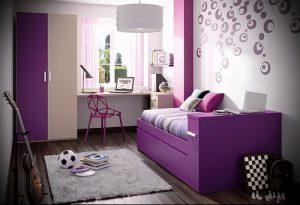 Интерьер детской комнаты для девочки - фото пример 016