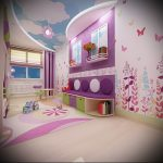 Интерьер детской комнаты для девочки - фото пример 026