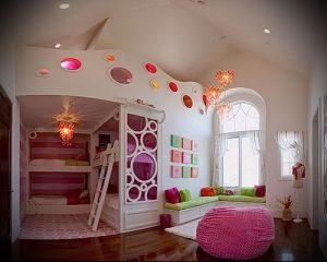 Интерьер детской комнаты для девочки - фото пример 027