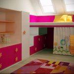 Интерьер детской комнаты для девочки - фото пример 032