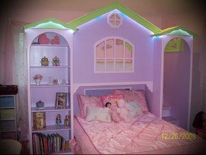 Интерьер детской комнаты для девочки - фото пример 042