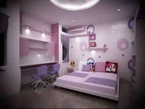 Интерьер детской комнаты для девочки - фото пример 047