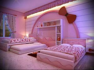 Интерьер детской комнаты для девочки - фото пример 048