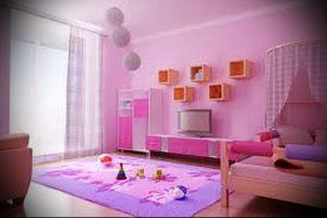 Интерьер детской комнаты для девочки - фото пример 058