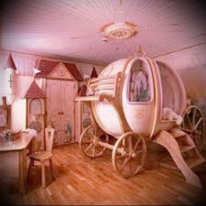 Интерьер детской комнаты для девочки - фото пример 059
