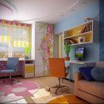 Интерьер детской комнаты для девочки - фото пример 065