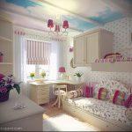 Интерьер детской комнаты для девочки - фото пример 073