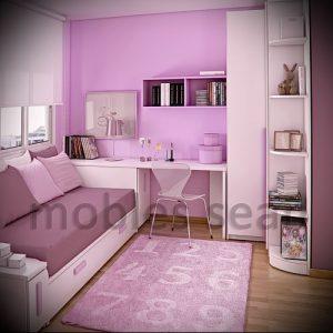 Интерьер детской комнаты для девочки - фото пример 074