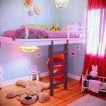 Интерьер детской комнаты для девочки - фото пример 075