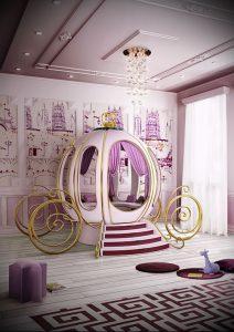 Интерьер детской комнаты для девочки - фото пример 076