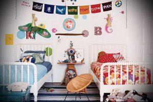 Интерьер детской комнаты для девочки - фото пример 080