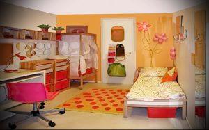 Интерьер детской комнаты для девочки - фото пример 082