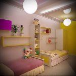 Интерьер детской комнаты для девочки - фото пример 084