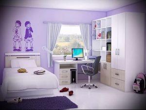 Интерьер детской комнаты для девочки - фото пример 085 23421