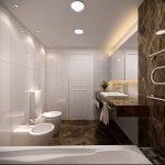 Фото Интерьер ванной комнаты совмещенной с туалетом - 22052017 - пример - 027