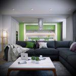 Фото Зелёный акцент в интерьере - 02062017 - пример - 069 Green accent in the interior