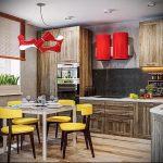 Фото Яркие акценты в интерьере кухни - 02062017 - пример - 006 interior of the kitchen
