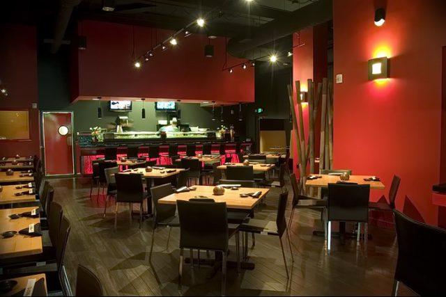 Интерьера японского ресторана