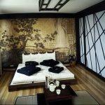 фото Интерьер спальни в японском стиле от 22.09.2017 №001 - 1 - design-foto.ru