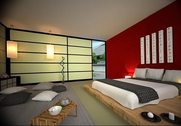 фото Интерьер спальни в японском стиле от 22.09.2017 №006 - 1 - design-foto.ru