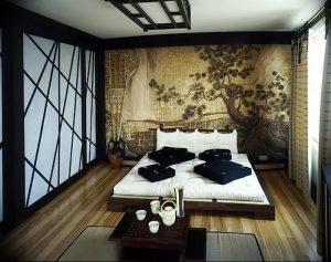 фото Интерьер спальни в японском стиле от 22.09.2017 №015 - 1 - design-foto.ru