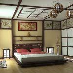 фото Интерьер спальни в японском стиле от 22.09.2017 №019 - 1 - design-foto.ru