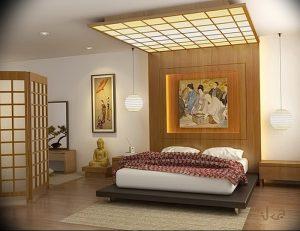 фото Интерьер спальни в японском стиле от 22.09.2017 №027 - 1 - design-foto.ru