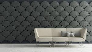 фото Ткань в интерьере стен от 13.11.2017 №079 - Fabric in the interior of the walls