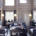 фото Интерьер в деревянном стиле от 27.12.2017 №003 - Interior in a woode - design-foto