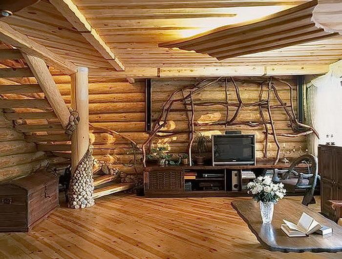 фото Интерьер в деревянном стиле от 27.12.2017 №014 - Interior in a woode - design-foto