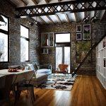 фото Интерьер в деревянном стиле от 27.12.2017 №028 - Interior in a woode - design-foto