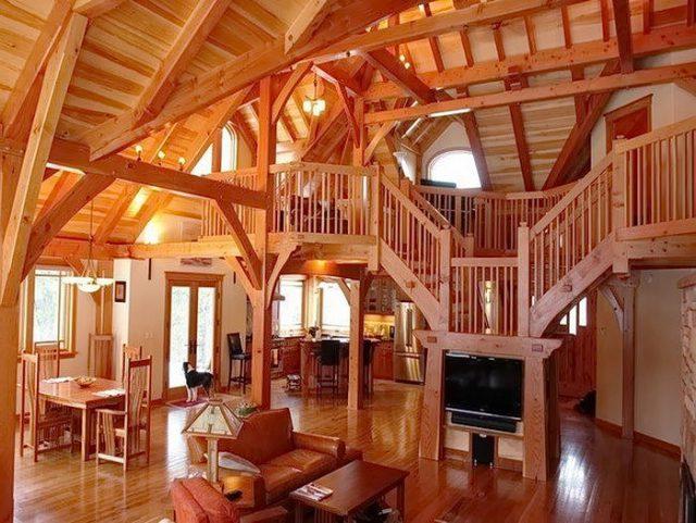 Интерьер в деревянном стиле