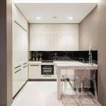 фото Интерьер маленькой кухни от 27.12.2017 №021 - Interior of a small kitchen - 2018