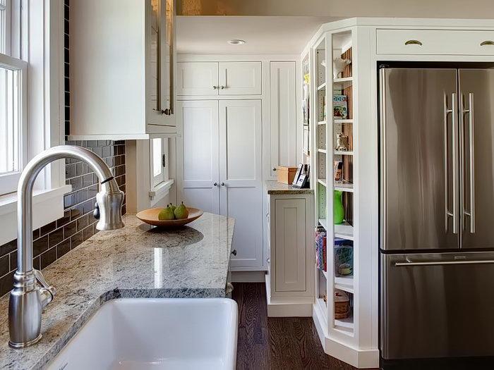 фото Интерьер маленькой кухни от 27.12.2017 №033 - Interior of a small kitchen - 2018