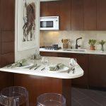фото Интерьер маленькой кухни от 27.12.2017 №034 - Interior of a small kitchen - 2018