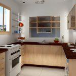 фото Интерьер маленькой кухни от 27.12.2017 №047 - Interior of a small kitchen - 2018