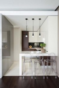 фото Интерьер маленькой кухни от 27.12.2017 №074 - Interior of a small kitchen - 2018