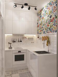 фото Интерьер маленькой кухни от 27.12.2017 №079 - Interior of a small kitchen - 2018