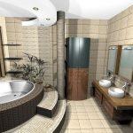 фото Современные стили интерьера ванной от 30.12.2017 №040 - 1 - design-foto.ru