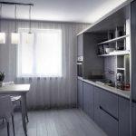фото Интерьер кухни 9 кв м от 02.01.2018 №006 - Kitchen interior 9 sq M - design-foto.ru